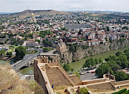 Vue sur Tbilissi depuis la forteresse de Narikhala