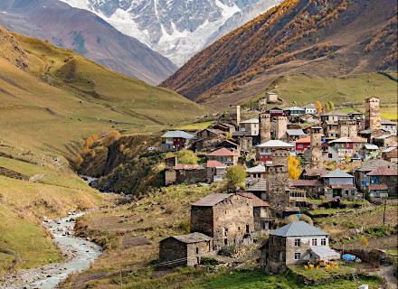 Ushguli - plus haut village habité d'Europe