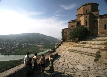 Monastère de Djvari qui domine la ville de Mtakheta